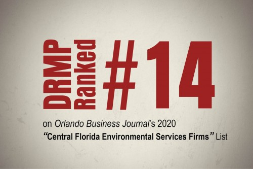 DRMP Lands on  Top Central Florida Environmental Services Firms List