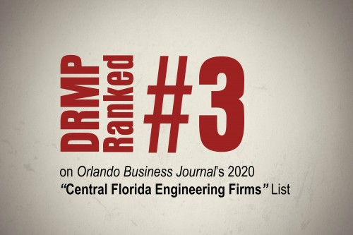 DRMP Makes Big Gains on Top 10 Central Florida Engineering Firms List